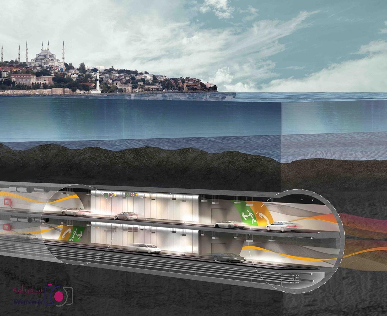 تونل اوارسیا در زیر دریای مرمره ترکیه
